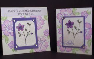 DazzlingDiamondDustTech&Card-purpleflowers