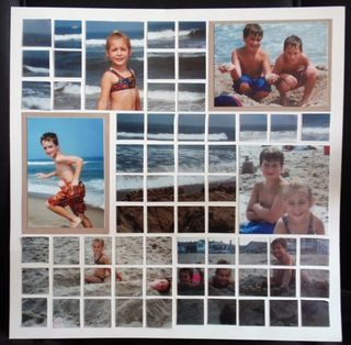 Photo Mosaic Scrapbook-Beach