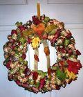 Fall Curly Ribbon Wreath-OfficeDoor-2013
